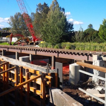 Temporary Railway Bridge Over West Creek Toowoomba QLD